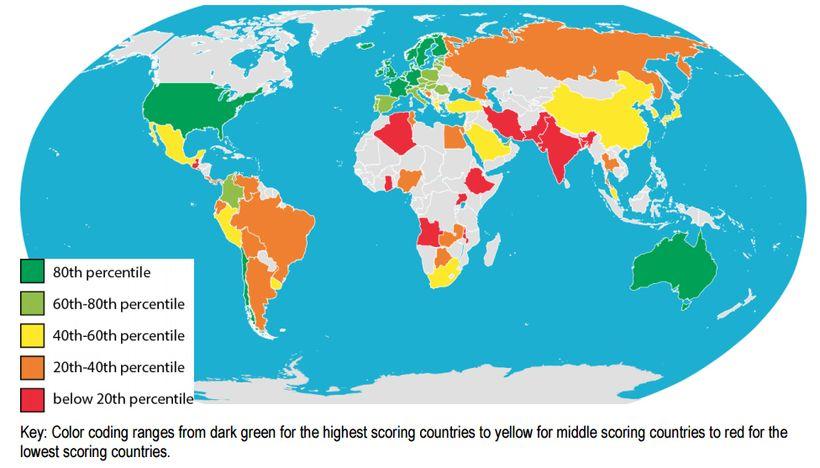 Female Entrepreneur Index Score, 2015