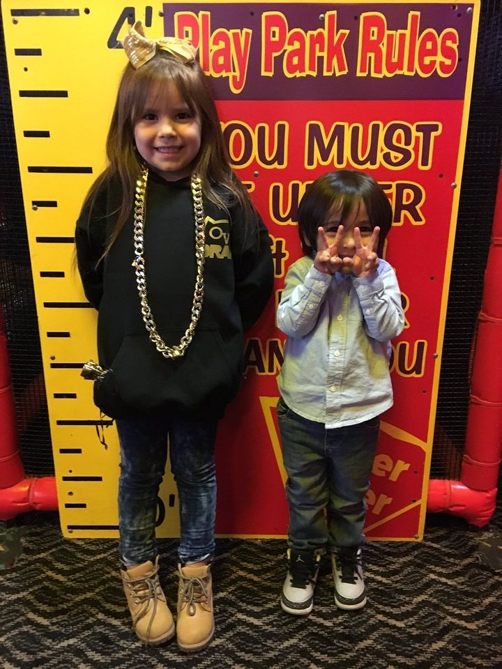 Leah had a blast celebrating her birthday (and Drake) with Marquez's son,Isah Ray.