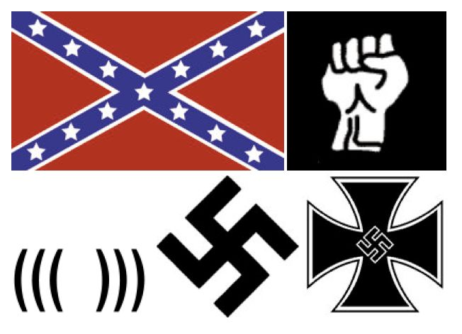 Pepe the Frog joins a list of images, several pictured here, that have been declared hate symbols by the Anti-Defamation Leag