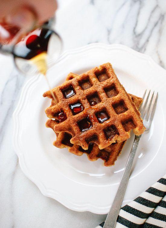 """<strong>Get the <a href=""""http://cookieandkate.com/2014/gluten-free-pumpkin-spice-waffles/"""" target=""""_blank"""">Gluten-Free Pumpki"""