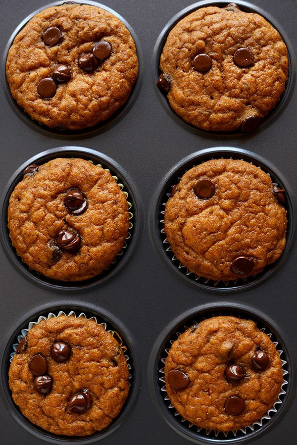 "<strong>Get the <a href=""http://minimalistbaker.com/pumpkin-chocolate-chip-muffins/"" target=""_blank"">Chocolate Chip Pumpkin M"