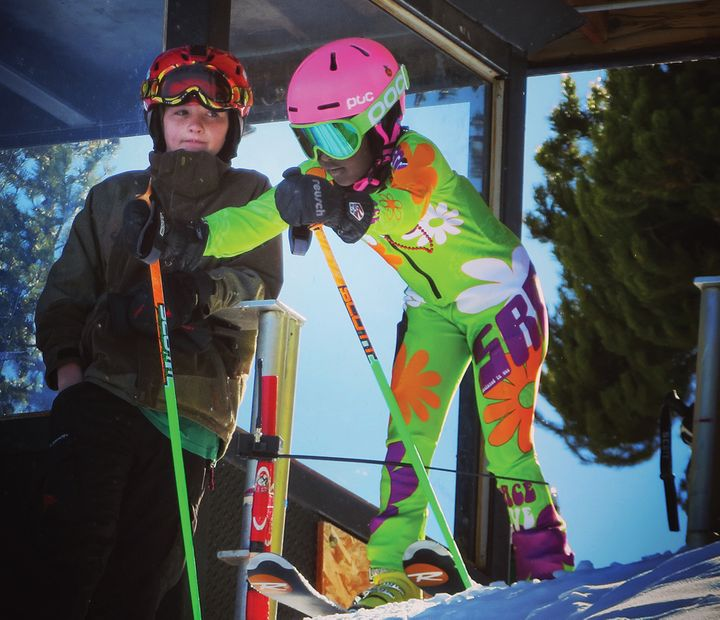 The author's daughter, Mekdes, trains for ski racing at Eldora Mountain Resort in Colorado.
