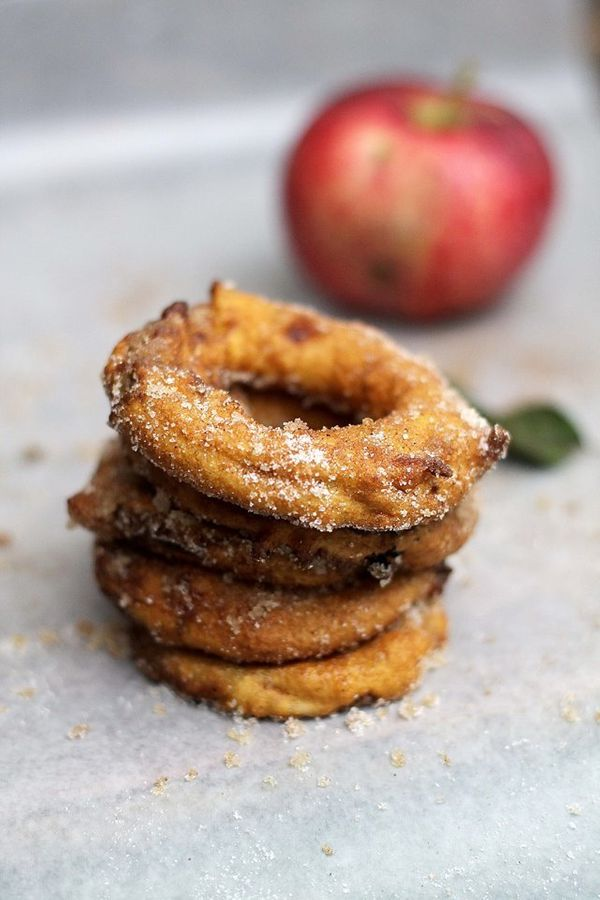 """<strong>Get the <a href=""""http://diethood.com/apple-rings/"""" target=""""_blank"""">Apple Ring Fritters recipe</a>from Diethood<"""