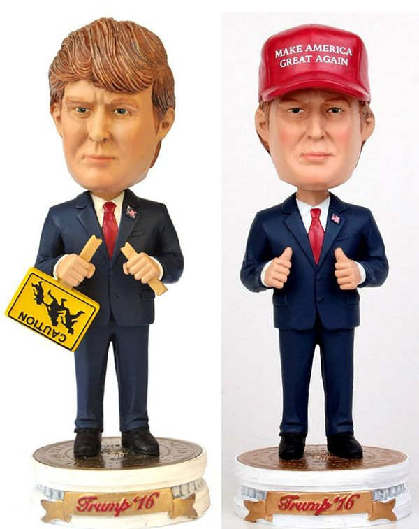 "Usually, bobblehead dolls have big heads over tiny bodies. The problem with making a <a href=""http://trumpbobblehead.com/"" ta"