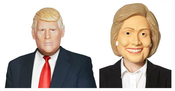 Political masks are always popular around Halloween since most people think the candidates are hiding something. However, any