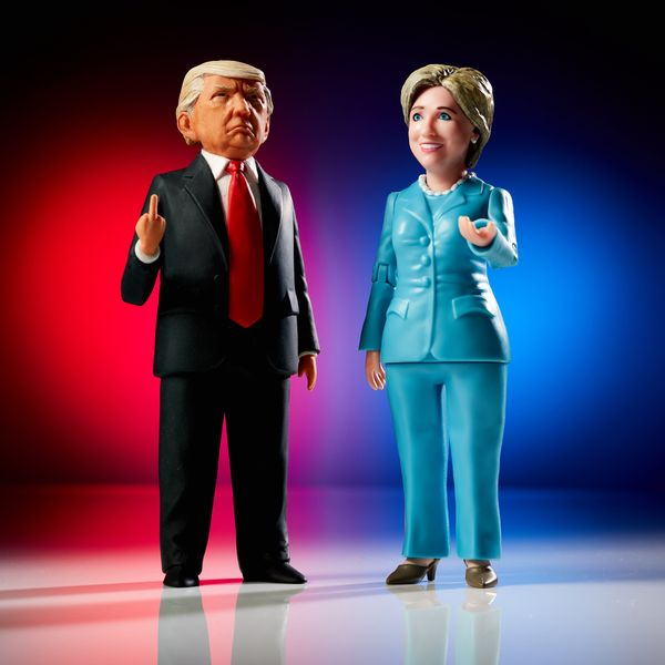 Want to get your kids to be more political when they play with dolls? Get these action figures! Want to scare them away from