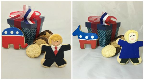 You may think it's hard to swallow some of the things the candidates say, but you won't have trouble swallowing these cookies