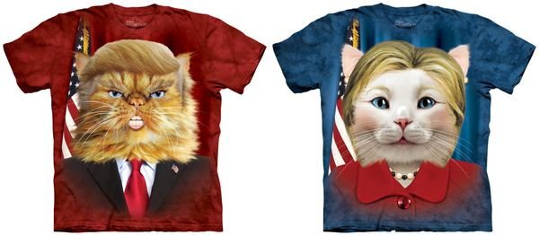 "Politics and cats make for strange fellows, but even these feline-oriented T-shirts of <a href=""http://www.allposters.com/-sp"