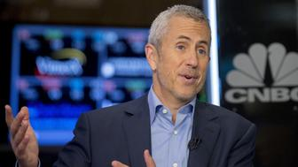 Danny Meyer, restaurateur and the CEO of the Union Square Hospitality Group speaks during an interview on CNBC on the floor of the New York Stock Exchange October 16, 2015. REUTERS/Brendan McDermid