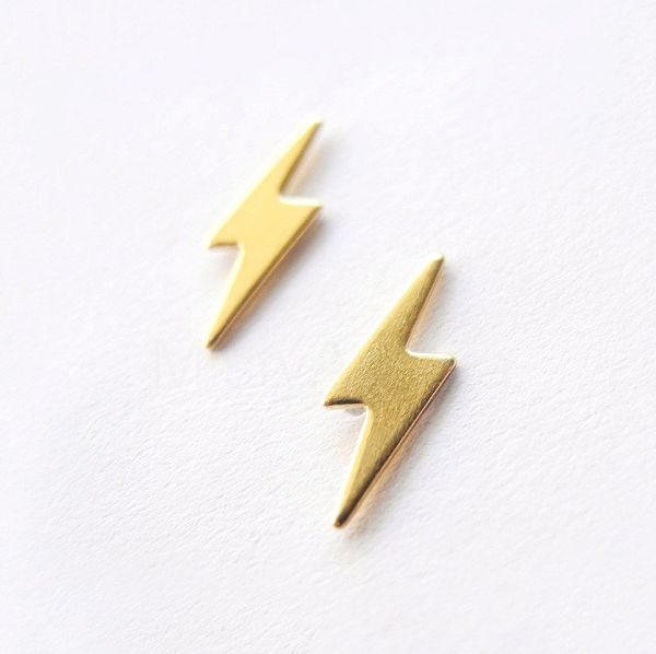 "Lightning bolt earrings, $18.25 at <a href=""https://www.etsy.com/listing/159420096/lightning-bolt-earrings-lightning"" target="