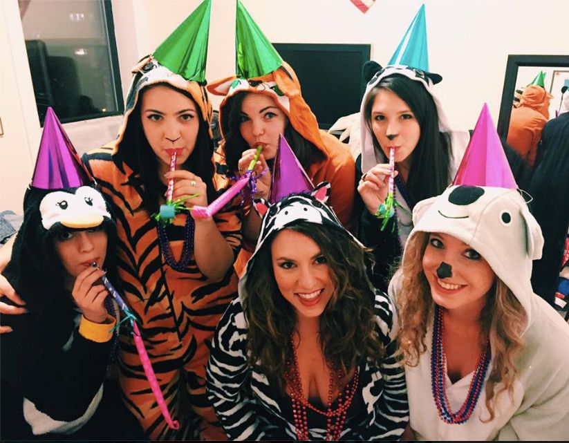 All you need is onesies party hats face paint and a feeling of PURE  sc 1 st  HuffPost & 26 BFF Halloween Costumes That Go Together Like Netflix And Chill ...