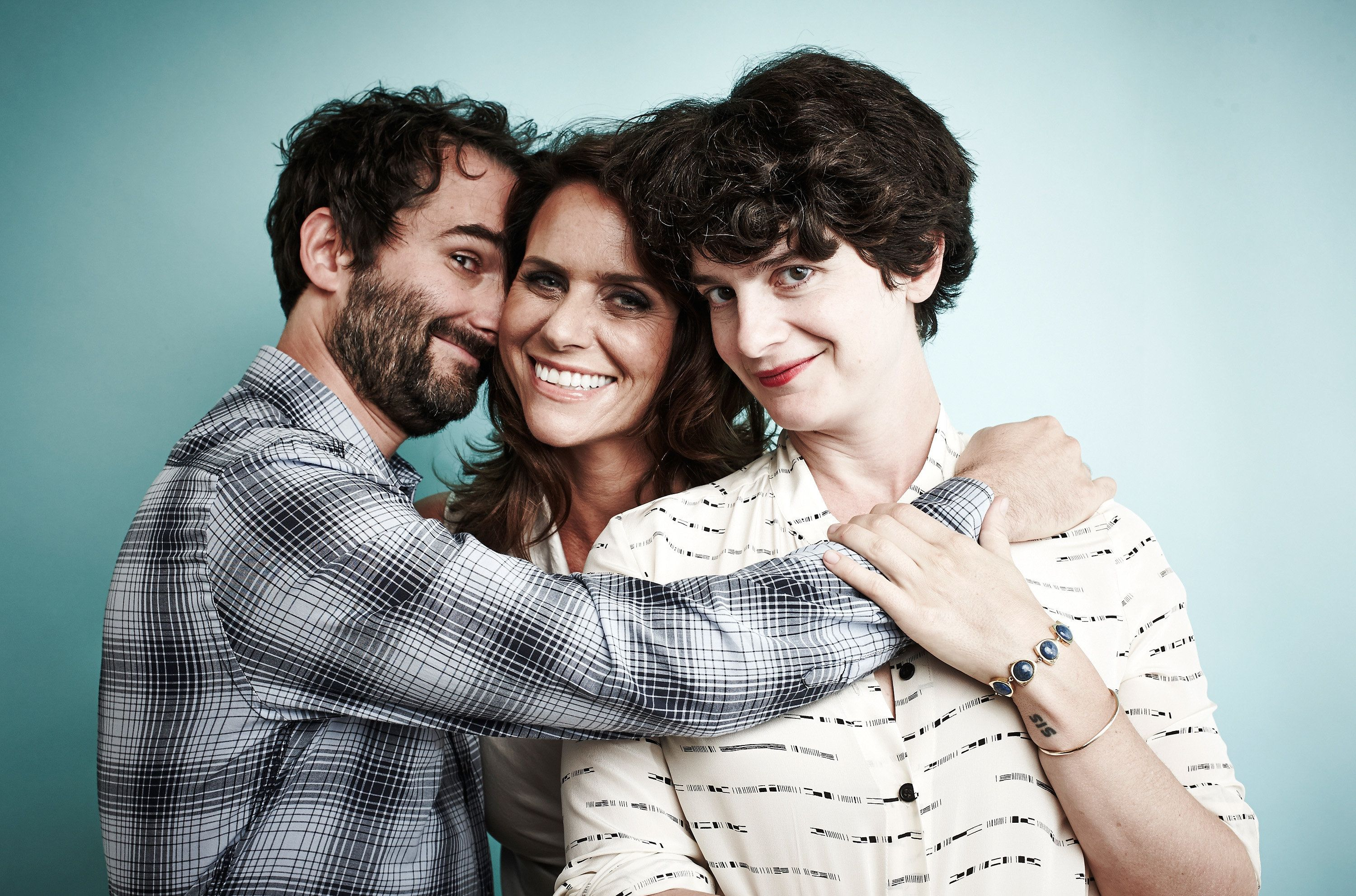 "Actors Jay Duplass, Amy Landecker and Gaby Hoffmann play the Pfefferman kids on ""Transparent."""