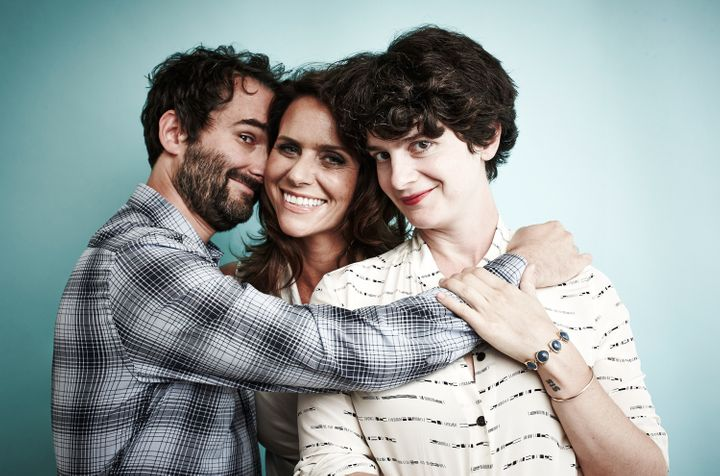 Actors Jay Duplass, Amy Landecker and Gaby Hoffmann play the Pfefferman  kids on