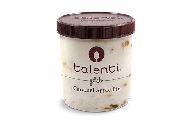 We have two caramel apple flavors in this lineup, but they're both unique in their approach. Talenti's version -- which is ve
