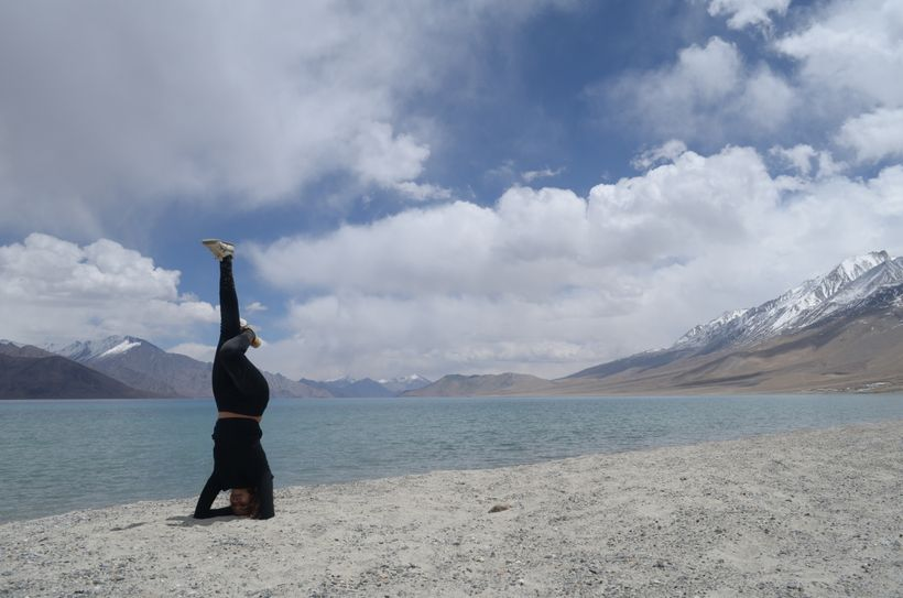 Conquering the headstand in Ladakh, India