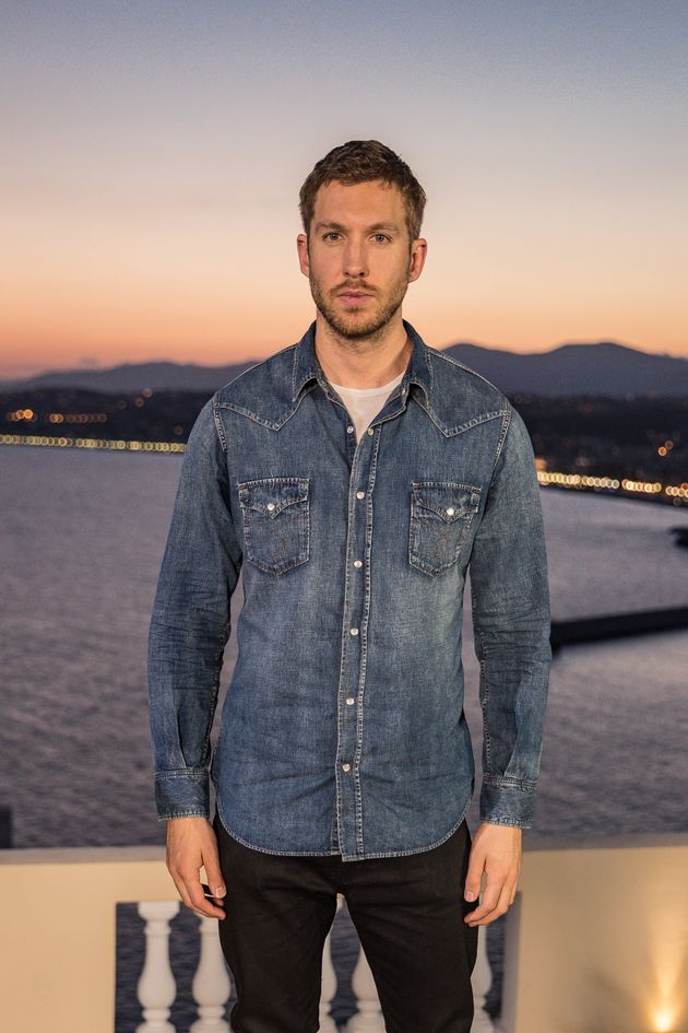 The most comfortable-looking photo of Calvin Harris ever