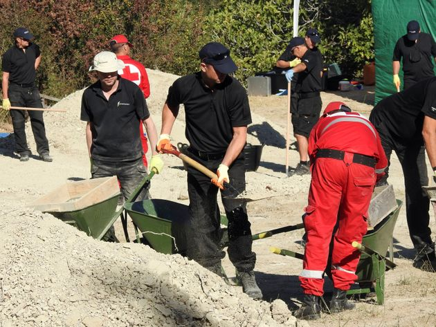 Cousins said police were doing 'ground-breaking work - a new method in forensic capability' at the excavation