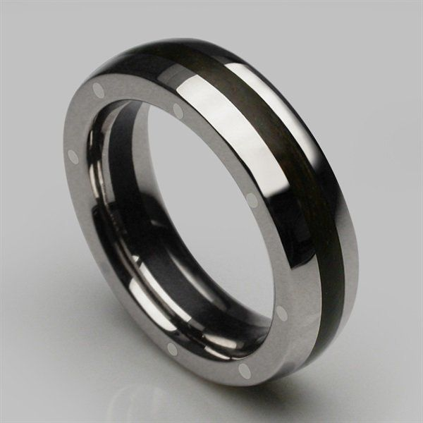 Stephen Einhorn Geo Elipse Slim ring, made from 2000 year old Thames Wood and