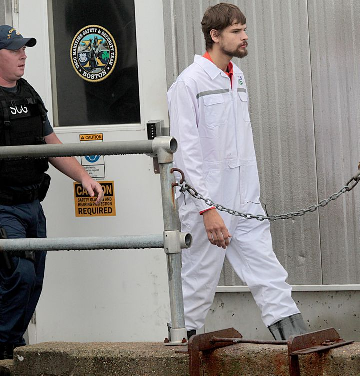 Carmanhas said that his mother disappeared with their 32-foot fishing boat when it sank off New York's coast on Sept. 1