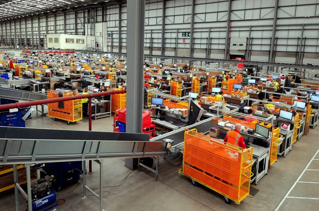 Workers in the ASOS distribution