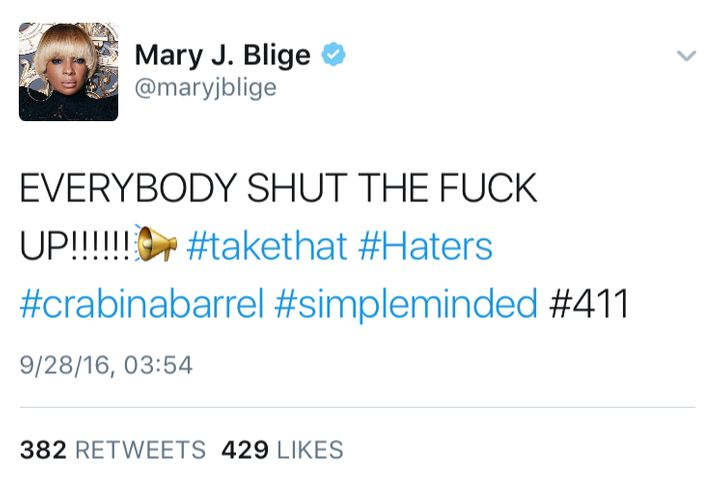 "<a href=""https://www.youtube.com/watch?v=eMygg27nZcs"" target=""_blank"">She said what she said</a>... then deleted it."