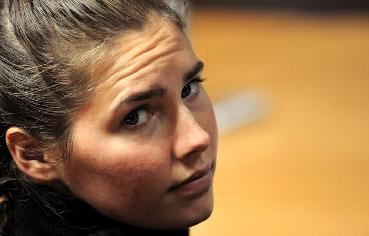 Amanda Knox on trial for Meredith Kercher's murder in 2009.
