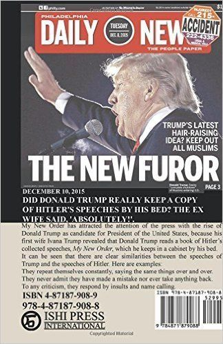 The revised back cover of <i>My New Order</i> features Donald Trump.<i></i>