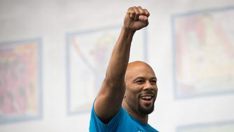 NEW YORK, NEW YORK - SEPTEMBER 28: Hip hop artist and activist Common performs during an event supporting public charter schools and protesting New York's racial achievement gap in education, in Prospect Park, September 28, 2016 in the Brooklyn borough of New York City. The #PathToPossible rally and march, organized by the Families for Excellent Schools, is calling for New York City to double its public charter school sector to 200,000 students by 2020. An estimated 25,000 people attended the rally. (Photo by Drew Angerer/Getty Images)