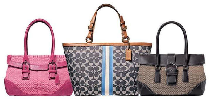 Coach designs in leather and canvas or nylon from 2005, 2007 and 2006 (left 2d0cbcac2a