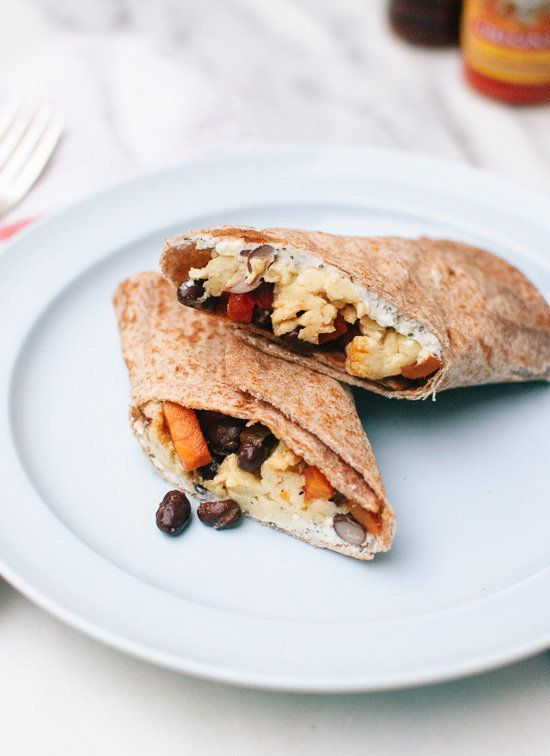 "<strong>Get the <a href=""http://cookieandkate.com/2014/healthy-freezer-breakfast-burritos-with-sweet-potato-hash/"" target=""_b"