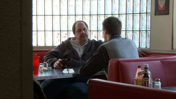Ron Wright chatswith Ross, one of Kelly's potential suitors.
