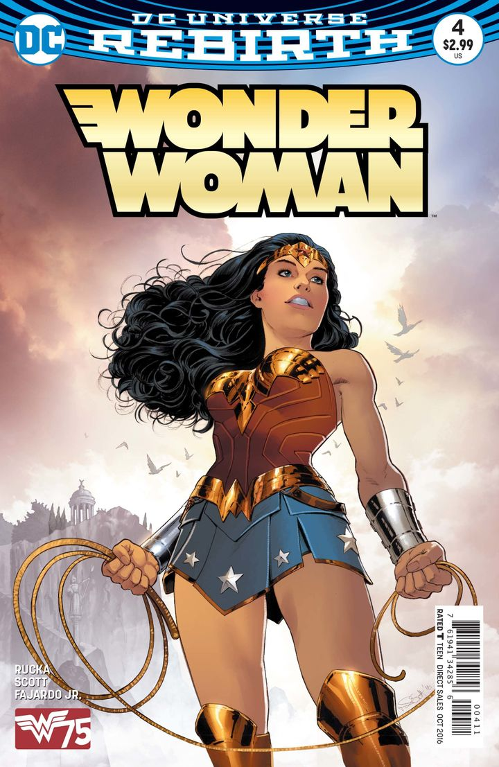 "Writer Greg Rucka said that it was only ""logical"" that Wonder Woman would identify as queer, given that she hails from a fict"