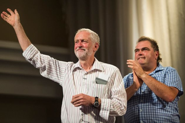Manuel Cortes (pictured right, next to Jeremy Corbyn) called for Walker to leave Labour