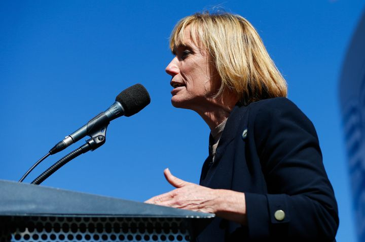 New Hampshire Gov. Maggie Hassan (D), pictured, is running against incumbent Sen. Kelly Ayotte (R) in a race projected t