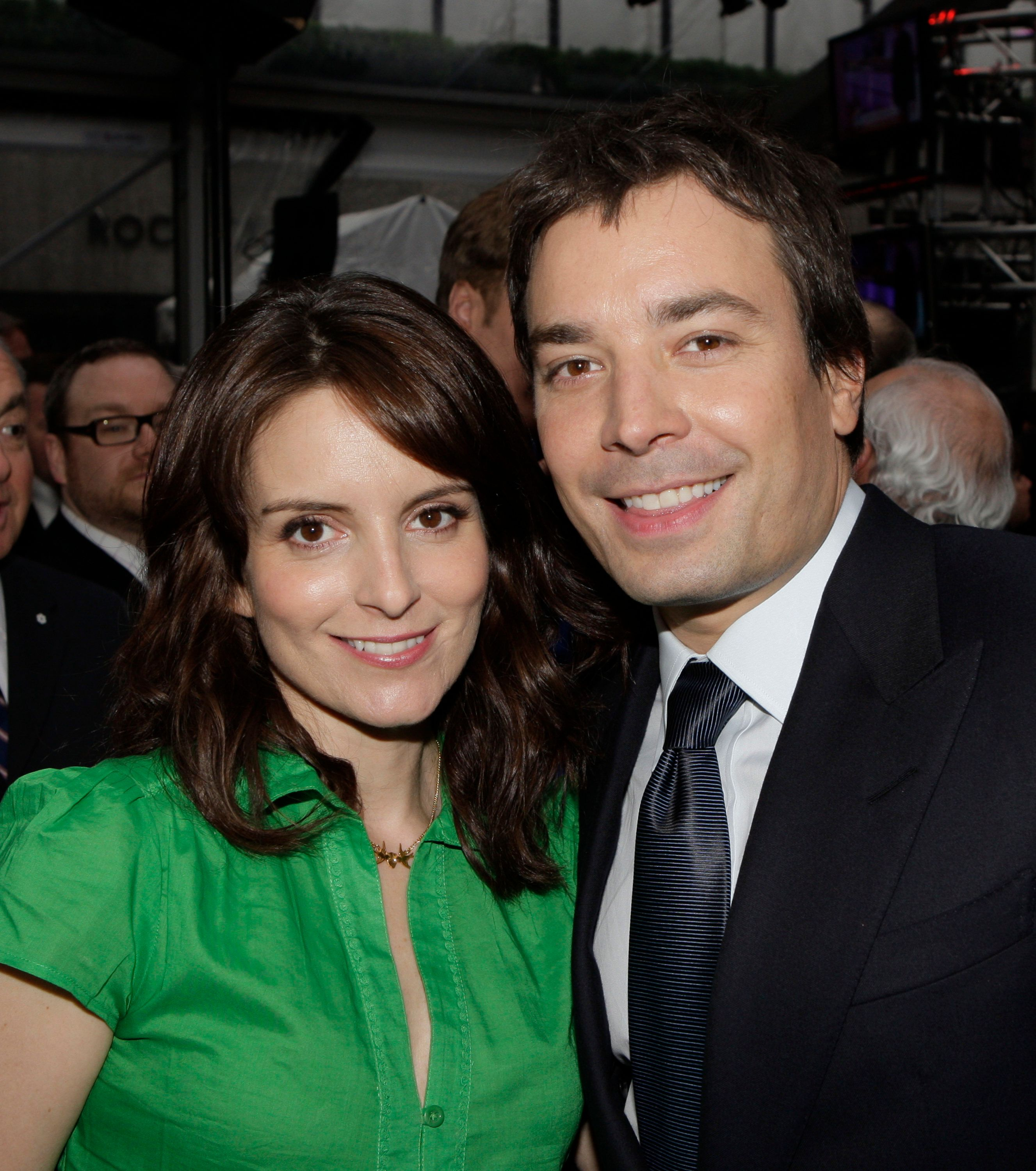 NBC UNIVERSAL EXPERIENCE -- Picturd: (l-r) Tina Fey and Jimmy Fallon attend the NBC Universal Experience party at Rockefeller Center in New York, NY on May 12, 2008  (Photo by Paul Drinkwater/NBC/NBCU Photo Bank via Getty Images)