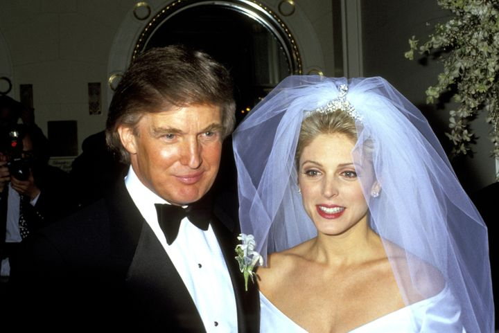 Trump and Marla Maples were themselves married in1993 and divorced in 1999.