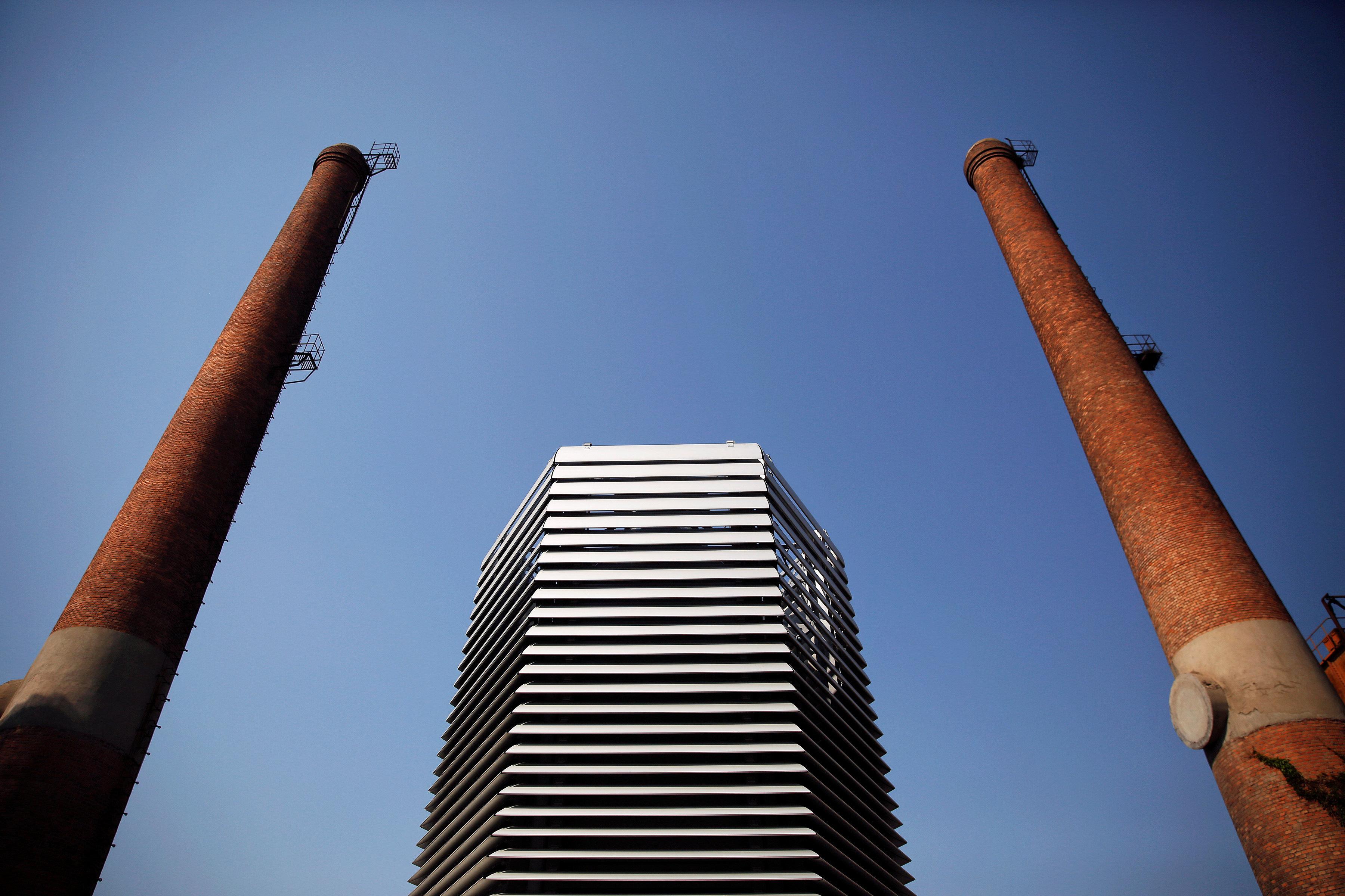 Daan Roosegaarde's Smog Free Tower, seen in Beijing on Thursday.