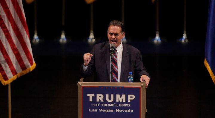 Danny Tarkanian campaigned for Donald Trump in Las Vegas thisJune.