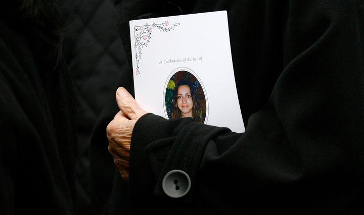Kercher's funeral in London in December 2007.