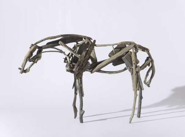 Deborah Butterfield (American, born 1949), Untitled, 1992. Cast bronze and patina, 36 × 54 × 13 inches. Tacoma Art Museum, Pr
