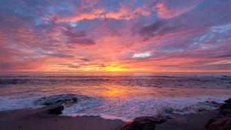 Sunset at Windandsea Beach in San Diego, California. This was one of those nights where there was no expectations. Once it was time to leave you found it hard to believe what you just witnessed. Nature's mesmerizing beauty.