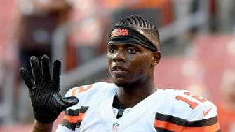 CLEVELAND, OH - AUGUST 18, 2016: Wide receiver Josh Gordon #12 of the Cleveland Browns stands on the field prior to a preseason game against the Atlanta Falcons on August 18, 2016 at FirstEnergy Stadium in Cleveland, Ohio. Atlanta won 24-13. (Photo by Nick Cammett/Diamond Images/Getty Images)