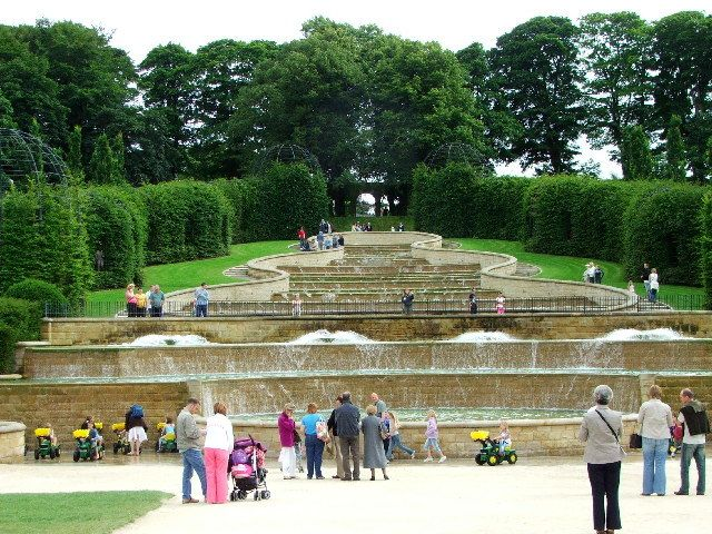 The Grand Cascade at Alnwick Garden, England.
