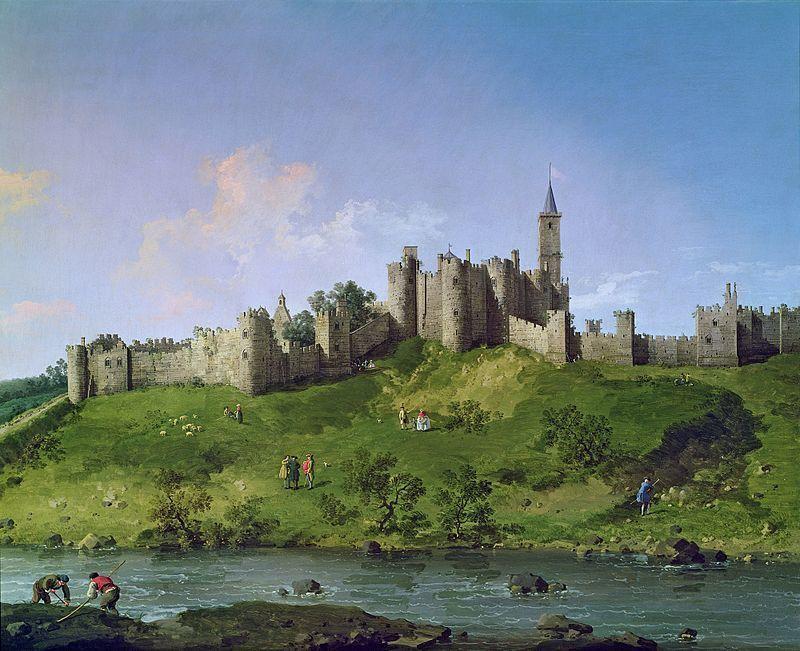 Alnwick Castle by Canaletto, circa 1750