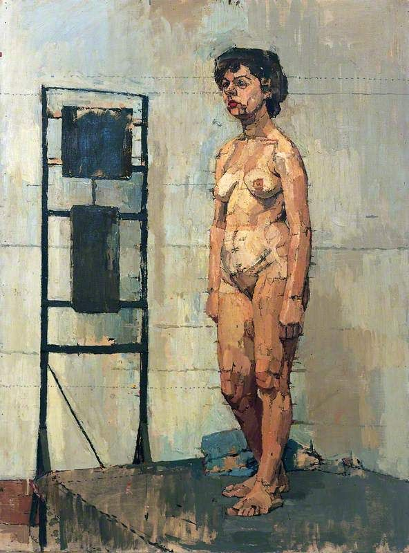 Euan Uglow, Female Figure Standing by a Heater, 1952