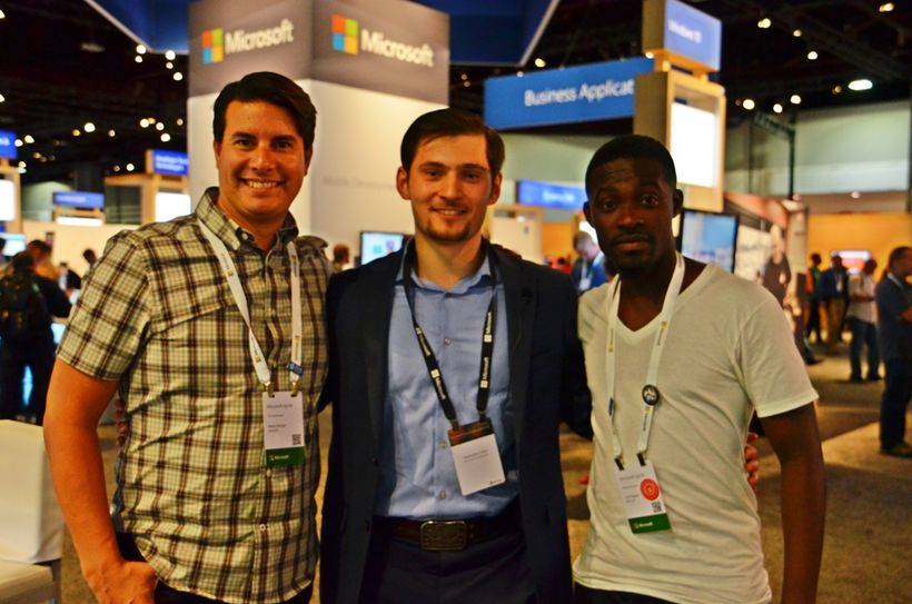 Kerry Herger - Manager, DX Audience Evangelism at Microsoft (to my right) and Joe Darko - Program Manager Evangelist - Commun