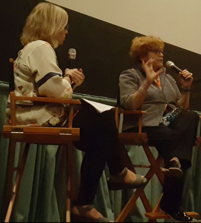 National Center for Jewish Film (NCJF) Co-Director Lisa Rivo with Deborah Lipstadt