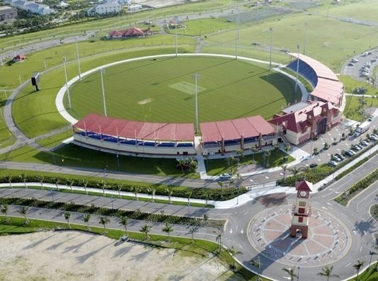Aerial view of the Central Broward Regional Park cricket stadium.