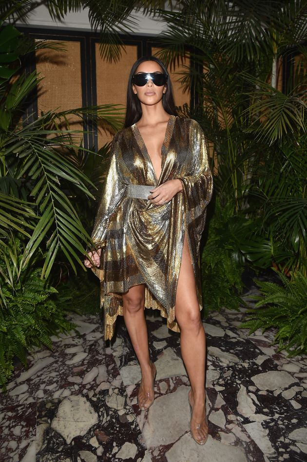 Kim Kardashian wears her most naked dress yet (PHOTO
