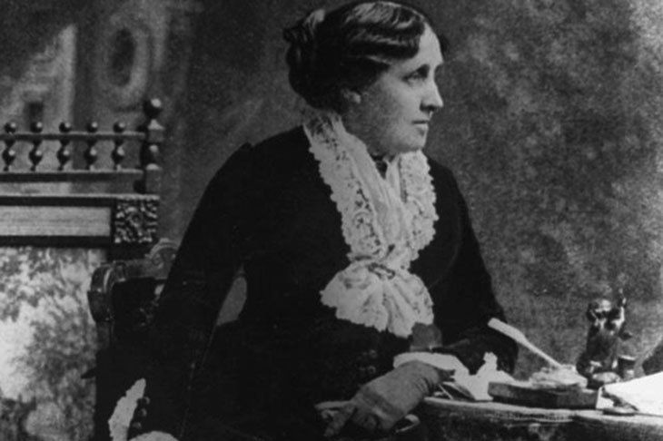 Image with author Louisa May Alcott.